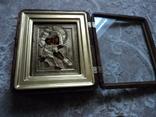 Икона Владимирская Б.М. в окладе и киоте, фото №6