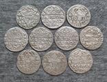 Коронные гроши 1600-х годов. Сиг. ІІІ Ваза ( 10 штук )., фото №2
