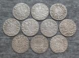 Коронные гроши 1600-х годов. Сиг. ІІІ Ваза ( 10 штук )., фото №5