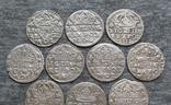 Коронные гроши 1600-х годов. Сиг. ІІІ Ваза ( 10 штук )., фото №8