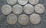 Коронные гроши 1600-х годов. Сиг. ІІІ Ваза ( 10 штук )., фото №9