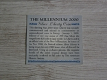 Либерия 20 долларов 2000 - МИЛЛЕНИУМ - серебро 999, цветная эмаль, унция, фото №7
