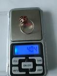 Серьги и кольцо 875-я со звездой, фото №7