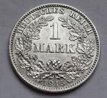 1 марка 1915 г. (J) Германия, серебро, фото №2