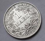1 марка 1915 г. (J) Германия, серебро, фото №4