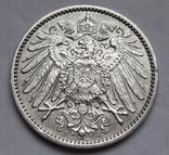 1 марка 1915 г. (J) Германия, серебро, фото №6