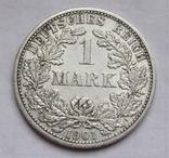 1 марка 1901 г. (F) Германия, серебро, фото №2