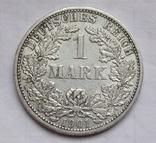 1 марка 1901 г. (F) Германия, серебро, фото №3