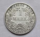 1 марка 1901 г. (F) Германия, серебро, фото №6