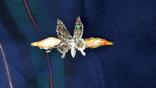 Вінтажна заколка з рухливим метеликом, фото №2