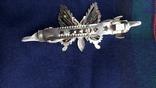 Вінтажна заколка з рухливим метеликом, фото №5