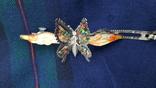 Вінтажна заколка з рухливим метеликом, фото №7
