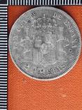 2 песеты, Испания, 1882 год, Альфонсо XII, серебро, 0.835, 10 грамм, фото №3