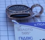Ладанка св. Николай Чудотворец золото 585 проба, фото №5