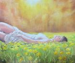 Картина, Насолода Весни, 50х60 см. Живопис на полотні, фото №2