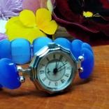 """Часы наручные женские """"Луч"""" с браслетом из"""" улексита"""", фото №2"""