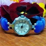 """Часы наручные женские """"Луч"""" с браслетом из"""" улексита"""", фото №3"""