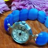 """Часы наручные женские """"Луч"""" с браслетом из"""" улексита"""", фото №5"""