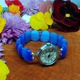 """Часы наручные женские """"Луч"""" с браслетом из"""" улексита"""", фото №10"""