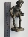 Бронзовая статуэтка вратарь, фото №9