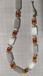 Бусы сатиновое стекло., фото №6