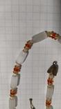 Бусы сатиновое стекло., фото №9