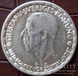 1 КРОНА 1947 Швеція /срібло/, фото №2