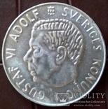 1 КРОНА 1955 Швеція /срібло/, фото №2