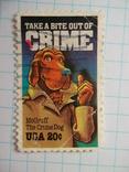 Марка.США.1984 Предупреждение преступности, фото №2