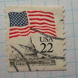 Марка.США.1985-1987 Флаг над Капитолием, фото №2