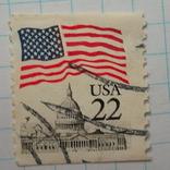 Марка.США.1985-1987 Флаг над Капитолием, фото №3