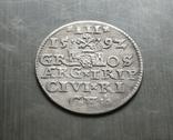 Трояк Рига, 1592року. Срiбло, (Аg) 2.32 грамма., фото №4