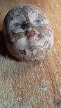 Лицо от ватной фигуры снегурочки, опилки, фото №11