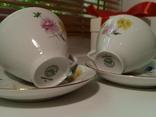 Кофейные пара (2/2 чашки, блюдца). Костяной фарфор. Германия GDR, фото №2