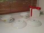 Кофейные пара (2/2 чашки, блюдца). Костяной фарфор. Германия GDR, фото №8