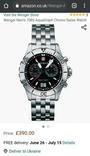 Мужские часы Wenger 7085x AquaGraph Chrono 41mm 200m Swiss Made, фото №13