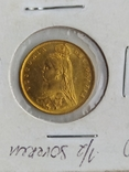 1/2 фунта Великобританія (напівсуверен) Королева Вікторія-1887року, фото №8