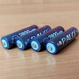 Пальчиковые аккумуляторы АА на 1,5 вольта - 4 шт., фото №4