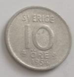 Швеция 10 эре, 1954 (лот 492), фото №2