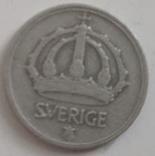 Швеция 25 эре, 1945 (лот 495), фото №3