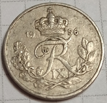 Дания 10 оре 1956, фото №3