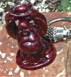 Брелок Маленький Фэншуй Будда Монах держит чашу над головой, фото №2