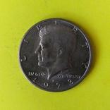 """США 1/2 долара, 1973 Мітка монетного двору: """"D"""" - Денвер, фото №2"""