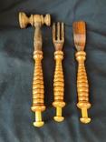 Деревянные кухонные приборы, фото №2