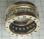 Кольцо. Bulgari. Серебро. 925, трезуб., фото №3