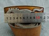 Ремень сделан в Англии Мустанг Пояс кожаный ремень River Island, фото №8