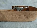 Ремень сделан в Англии Мустанг Пояс кожаный ремень River Island, фото №9