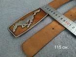 Ремень сделан в Англии Мустанг Пояс кожаный ремень River Island, фото №10