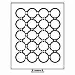 Бокс для монет диаметр ячейки 49 мм, черный Leuchtturm 359445, фото №2