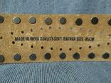 Большой широкий кожаный ремень Индия пояс кожа, фото №4